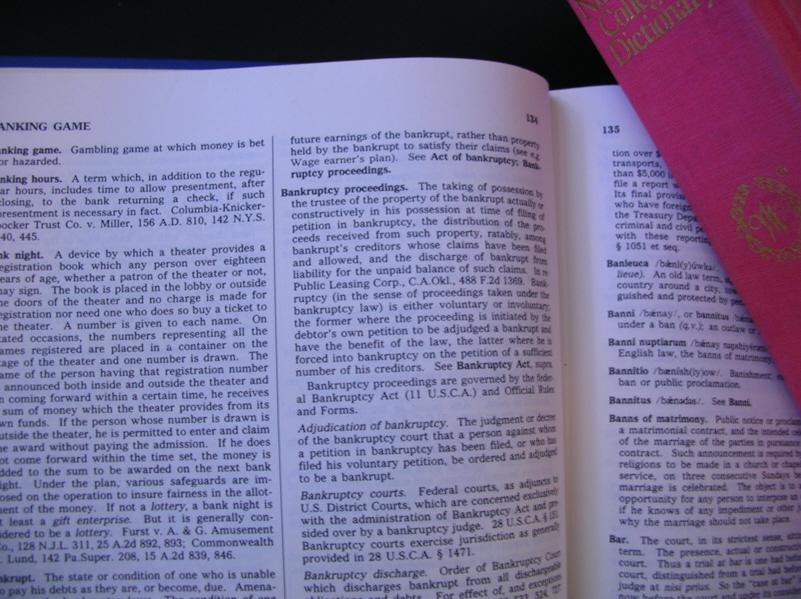 Liquidating debt definition dictionary